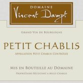 Vincent Dampt Petit Chablis White Burgundy Wine 750mL