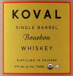 Koval Single Barrel Bourbon Whiskey Chicago