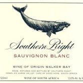 Southern Right Sauvignon Blanc Walker Bay 2016 White South African Wine 750 mL