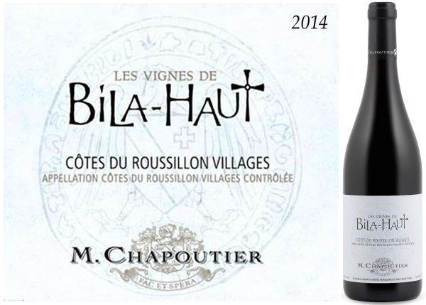 M. Chapoutier Les Vignes de Bila-Haut Cotes du Roussillon 2013 Villages Red French Wine