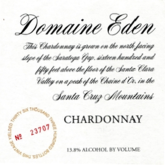 Domaine Eden Chardonnay Estate Santa Cruz Mountains  White California Wine 750 mL