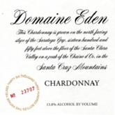 Domaine Eden Chardonnay Estate Santa Cruz Mountains  White California Wine 750 mL