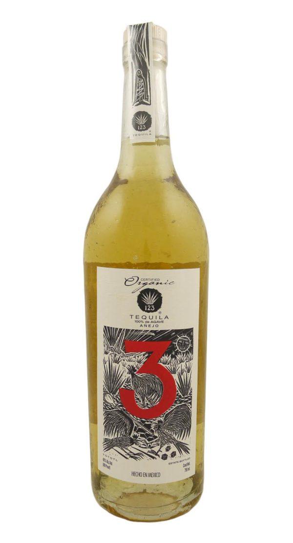 123 Tres Tequila Anejo Organic Mexico 750 mL