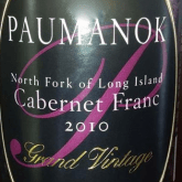 Paumanok Cabernet Franc Grand Vintage 2010 Red Long Island Wine