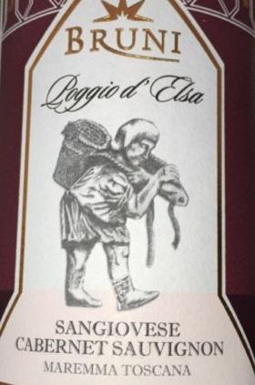 Bruni Poggio d'Elsa  Italian Red Tuscan Wine 750 mL