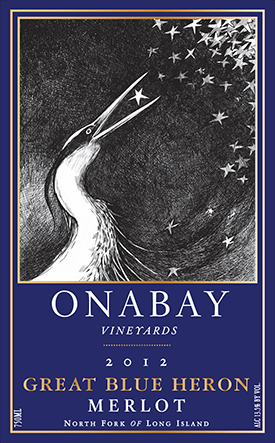 Onabay Vineyards Great Blue Heron Merlot 2010 Red Long Island Wine