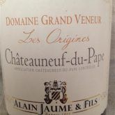 Domaine Grand Veneur Chateauneuf du Pape Cuvee les Origines 2012 French  Red Rhone Wine 750 mL