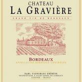 Chateau La Graviere Bordeaux French Red Wine 750 mL