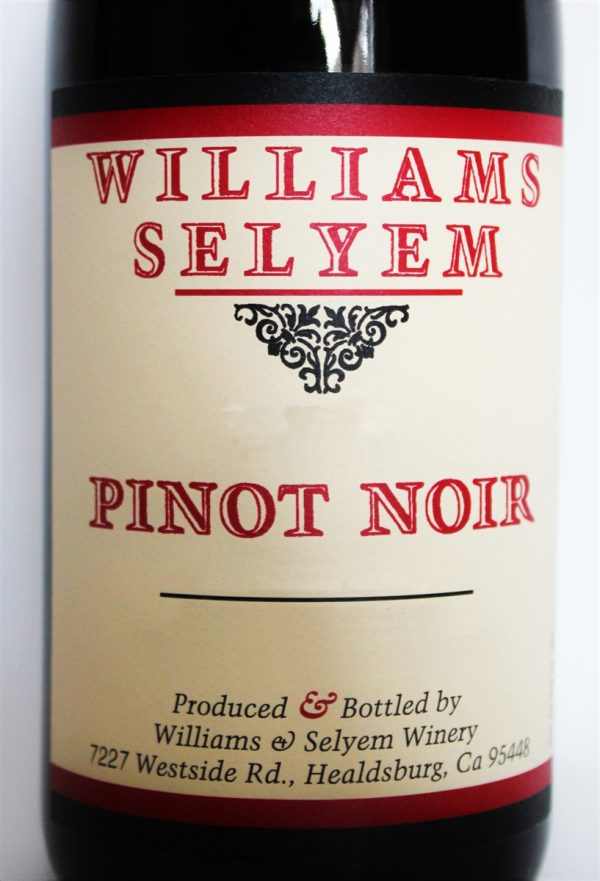 Williams Selyem Pinot Noir Foss Vineyard 2011 Red California Wine