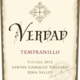 Verdad Tempranillo Sawyer Lindquist Vineyard Edna Valley 2014 California Red Wine 750 mL