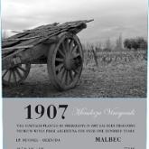 Mendoza Vineyards 1907 Malbec Argentina Red Wine 750mL
