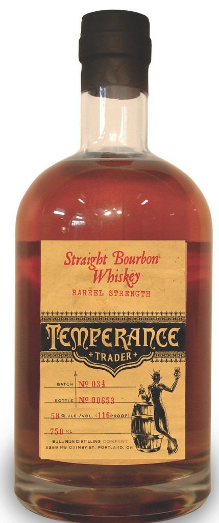 Temperance Trader Barrel Strength Straight Bourbon 117 proof