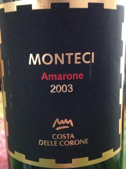 Monteci Amarone della Valpolicella Classico Costa delle Corone 2007 Italian Red Wine