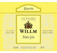 Willm Pinot Gris French White Wine