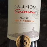 Finca la Luz Callejon de Crimon Malbec Gran Reserva 2014 Argentina Red Wine 750 mL