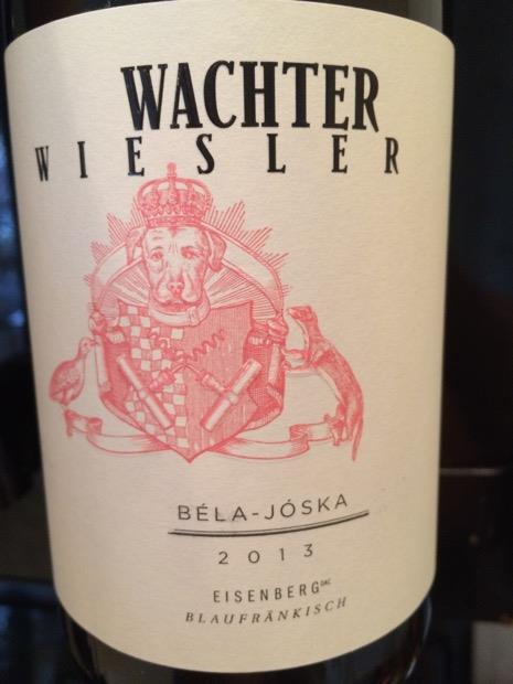 Wachter Wiesler  Bela-Joska Blaufrankisch (Eisenberg) Austrian Red Wine 750 mL