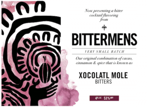 Bittermens Xocolatl Mole Aromatic Cocktail Bitters 5 ounce bottle