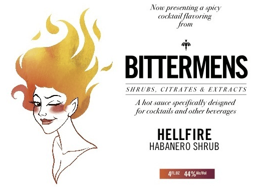 Bittermens Hellfire Habanero Shrub Aromatic Cocktail Bitters 5 ounce bottle