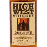 High West Distillery Double Rye Whiskey Park City Utah 750 mL