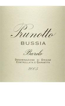 Prunotto Barolo Bussia 2009 Italian Red Piedmont Wine 750 mL