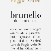 Poggio Antico Brunello di Montalcino 2012 Italian Red  Wine 750 mL