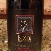 Robert Biale Like Father Like Son Syrah Petit Sirah Blend 2012 Red California Wine