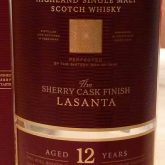 Glenmorangie 12 Year Old Lasanta Extra Sherry Cask Matured 92 Proof Single Malt Highland Scotch Whisky 750 mL