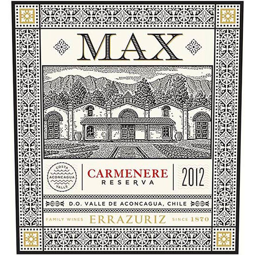 Errazuriz Max Reserva Aconcagua Valley Carmenere 2015 Red Chilean Wine 750 mL